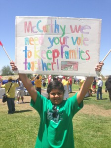 A young UDW fan urges McCarthy to keep families together.