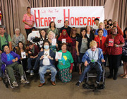 Caregivers and homecare clients send valentines to the governor
