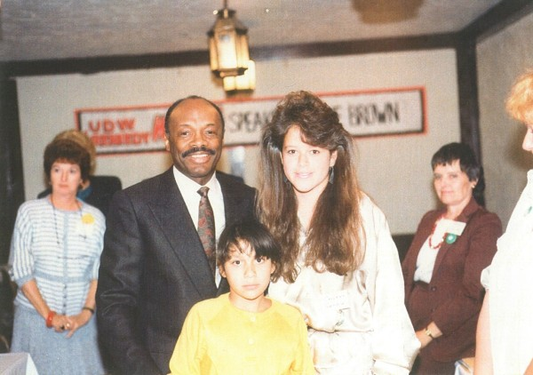 Willie Brown at UDW lobby day, 1985