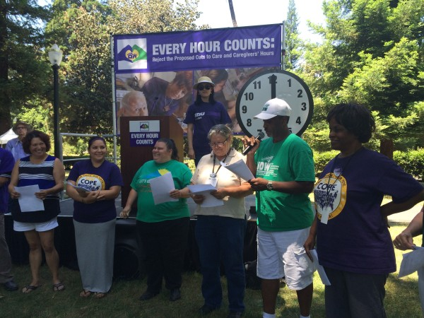 """Caregivers in Sacramento demonstrate why """"every hour counts"""""""