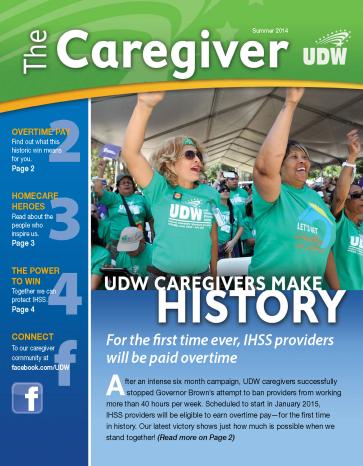 Caregiver - Summer 2014 - Cover