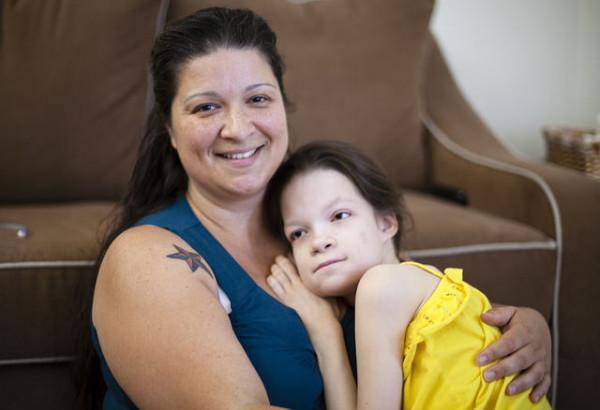 Jamie Shamblin and her daughter Emma.