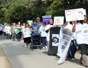 California IHSS Caregivers Rally in Sacramento, Hold Candlelight Vigil