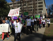 Domestic Workers Gather Outside Capitol Demanding Implementation of Overtime Pay
