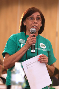 UDW homecare worker and former Addus District Chair Rosa Ramirez at convention