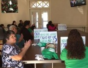 Santa Maria Workers Join Together To Watch Signing Of Minimum Wage Bill