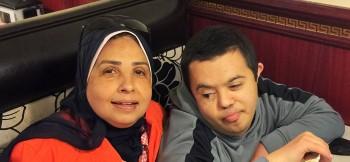 Khadija Ahmed and son