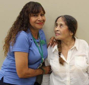 IHSS provider Luz Cedeno, of Orange County, and her mother.