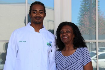 UDW Culinary Arts Academy graduate Jiaire Martin and his mother Esther Torbert.