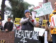 Obamacare Supporters Protest At Issa's North County Office