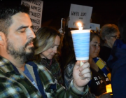 Constituents Hold Candlelight Vigil at Congressman Issa's House
