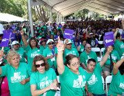 Over 4,000 converge on Capitol to urge Governor Brown to reverse crisis-era cuts &  drop hours cap proposal